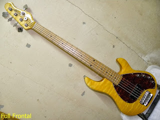 OLP Tony Levin Signature 5 String Bass Quilted Maple Natural - Front View