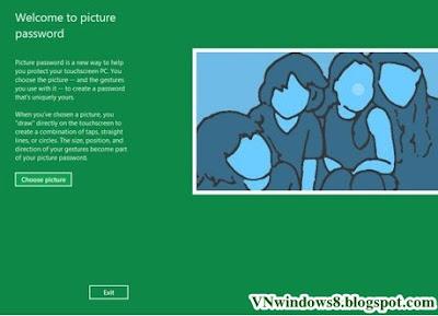 Làm sao Cài đặt mật khẩu bằng hình ảnh trong Windows 8
