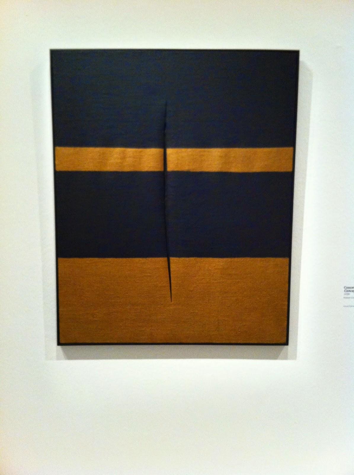 Fontana, Concept spatial, Attente, 1959