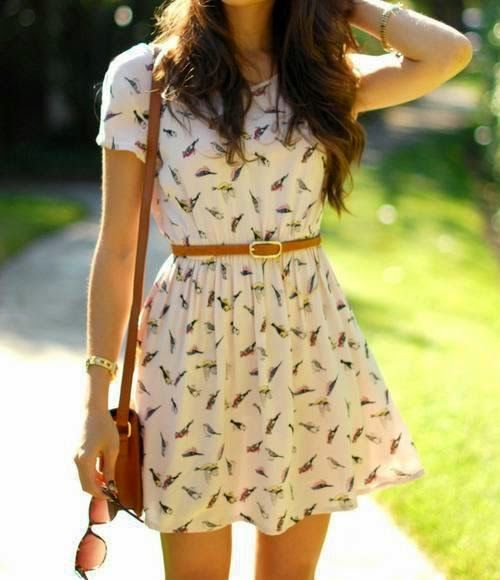 off white dress paired with belt