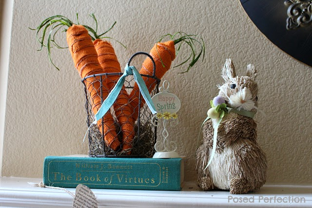 Bunny Love Spring Mantel