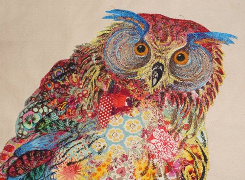 Halloween diy decor - My Owl Barn Sophie Standing Textile Embroidery Art