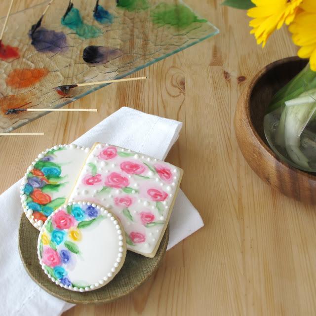 Painted Cookies via Fine Motor Skills