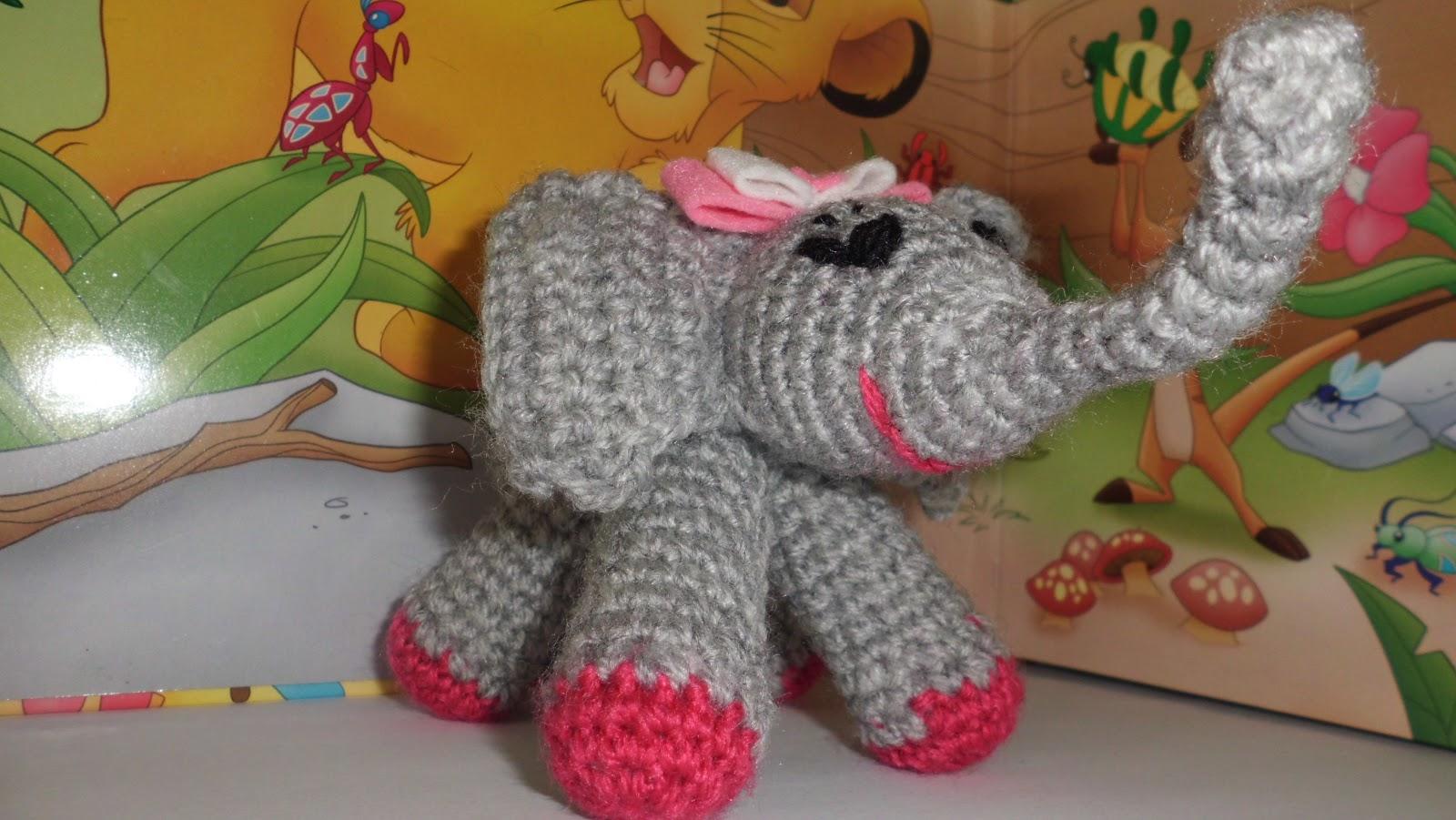 Amigurumis Ganchillo y mas: Elefante y elefantita amigurumi