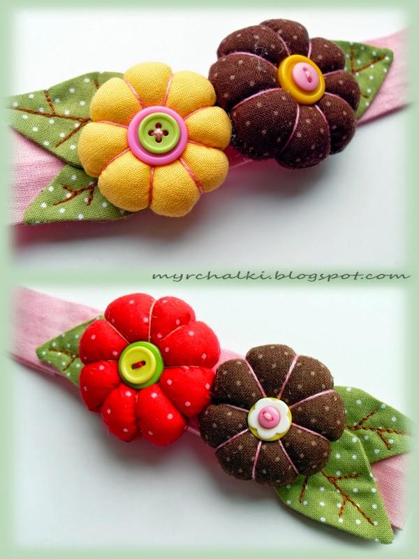 Цветочные повязки для девочки