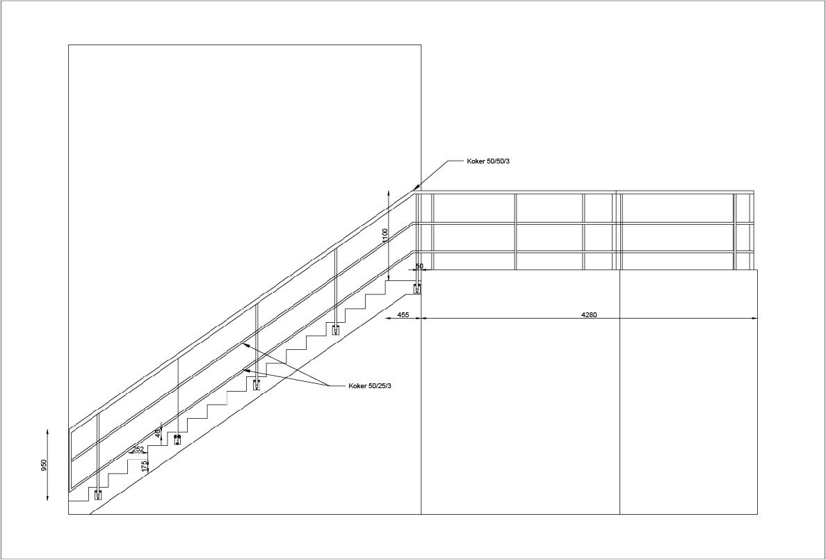 Trap tekenen autocad aanbouw huis voorbeelden for Trap tekenen programma