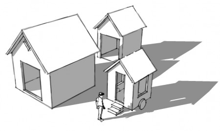 small scale homes drawing a tiny home with google