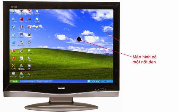 Lỗi màn hình tivi bị một nốt đen hoặc nốt mầu ở khu vực hiển thị hình ảnh