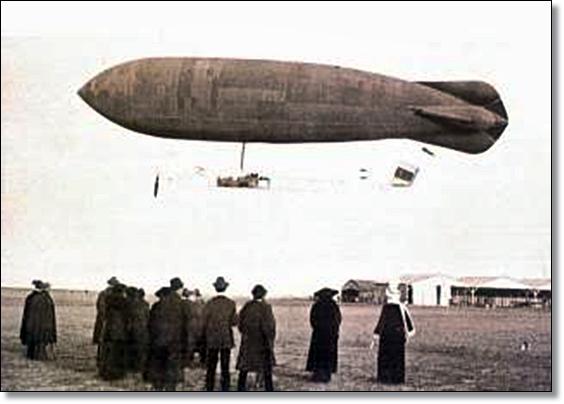 Resultado de imagen de el dirigible de leonardo torres quevedo