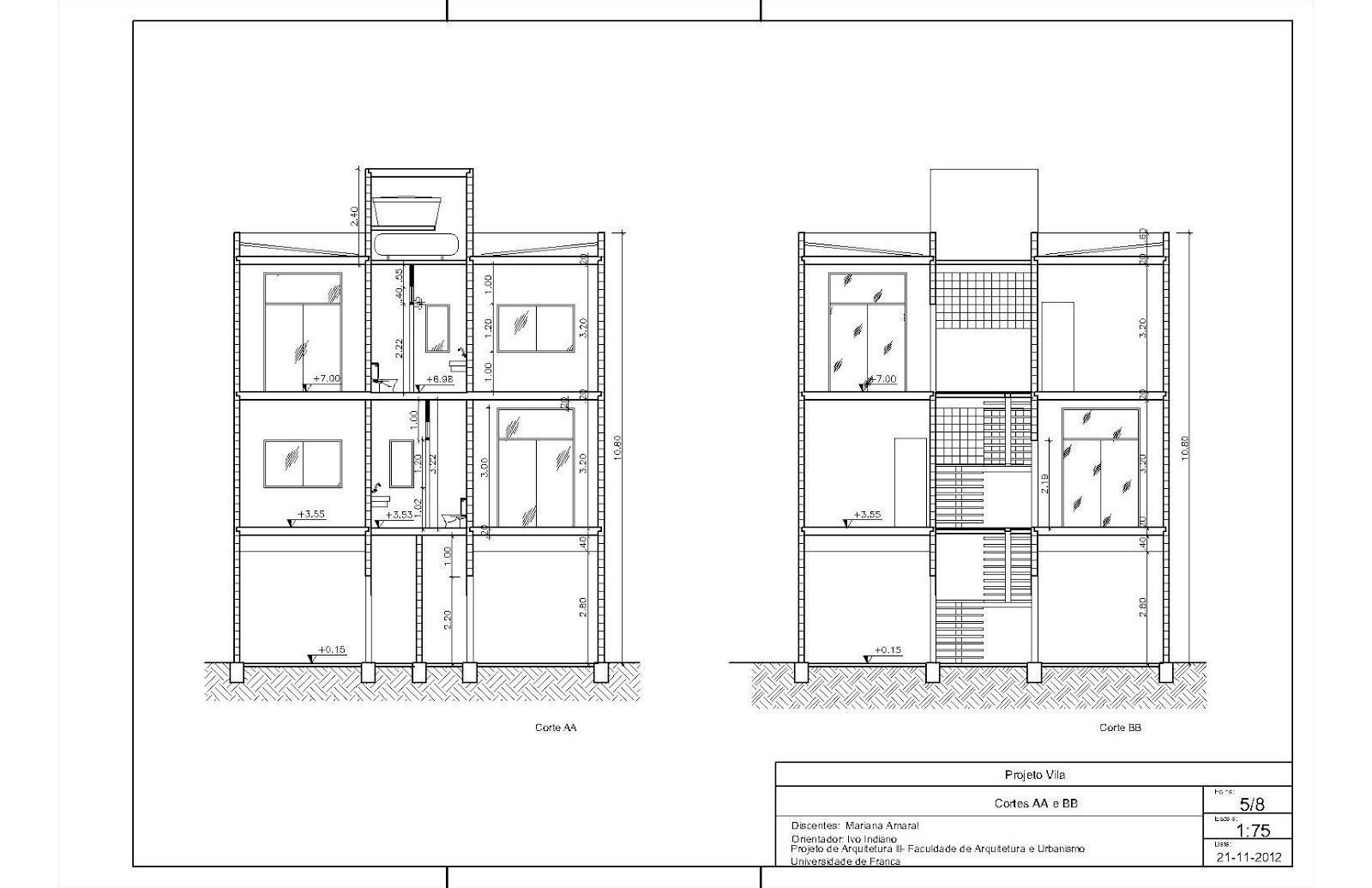 Imagens de #3C3C3C Mariana Amaral Arquitetura: Projeto Final 1600x1035 px 3432 Bloco Cad Banheiro Corte