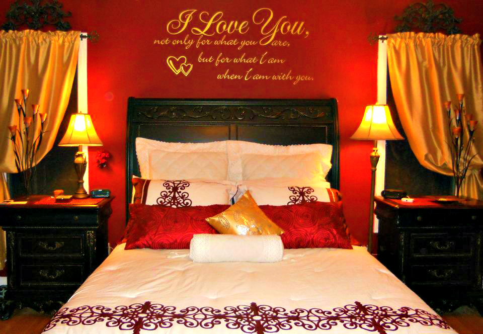 Amazing Red And Gold Bedroom Ideas Part - 14: Red And Gold Bedroom Designs Home Design Bedroom Inspiration