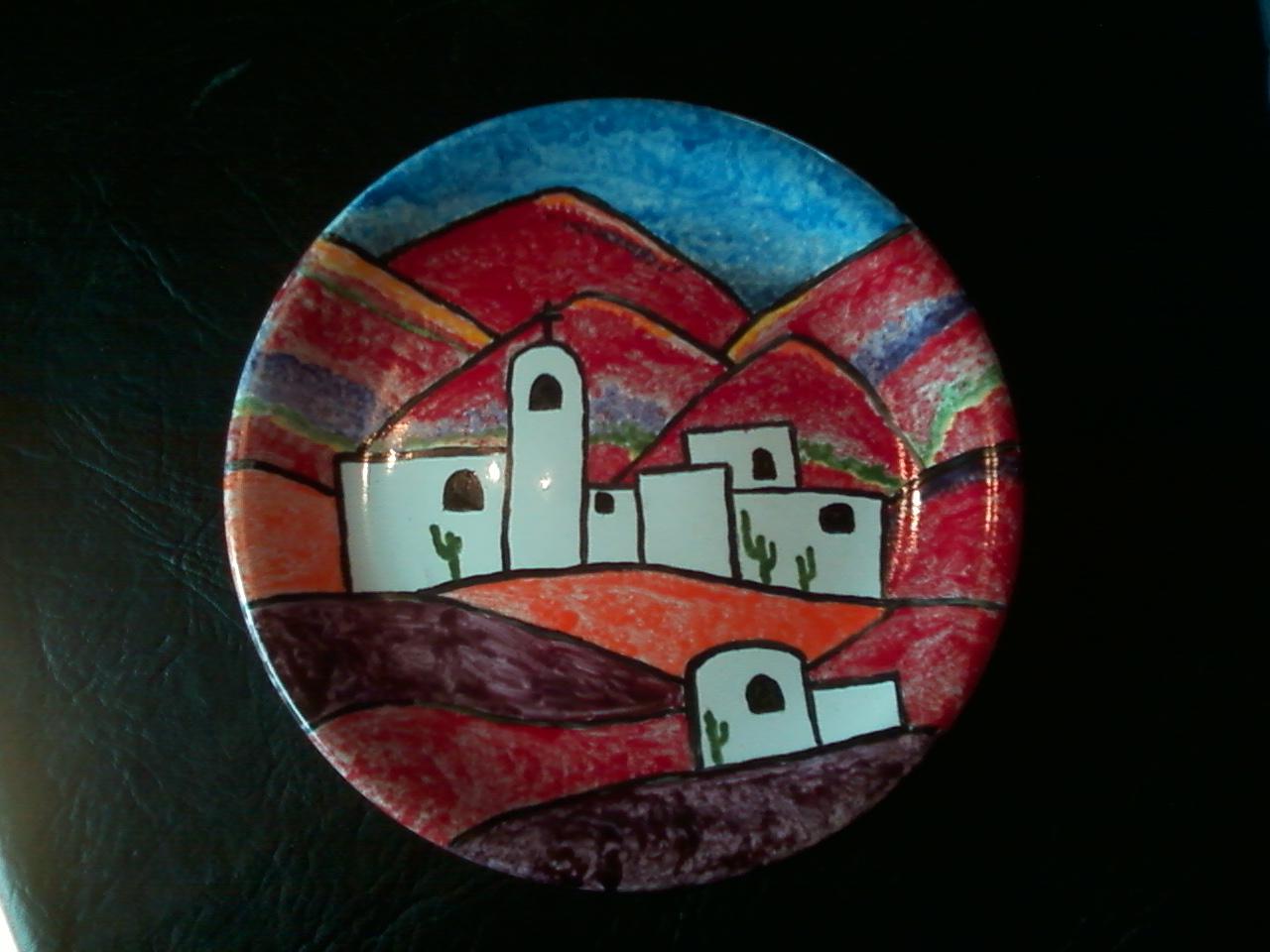 Pintopinturitaporcelana platos de ceramica pintados a mano for Platos de ceramica