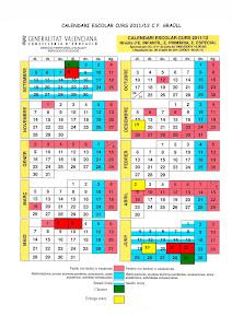 CALENDARI ESCOLAR CURS 2011-2012