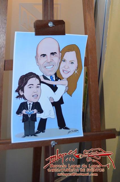 Caricatura do 22º aniversário de casamento