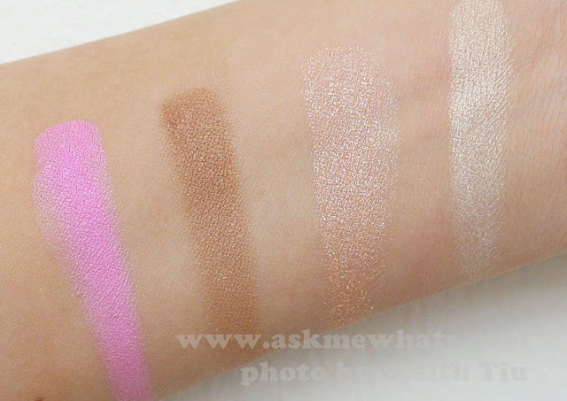 A photo of Pink Sugar Sweet Cheeks HD Cheek Color swatches