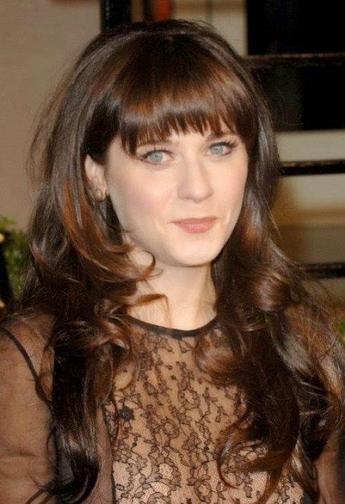 Gorgeous Long Hairstyles with Fringe 2015 for Women
