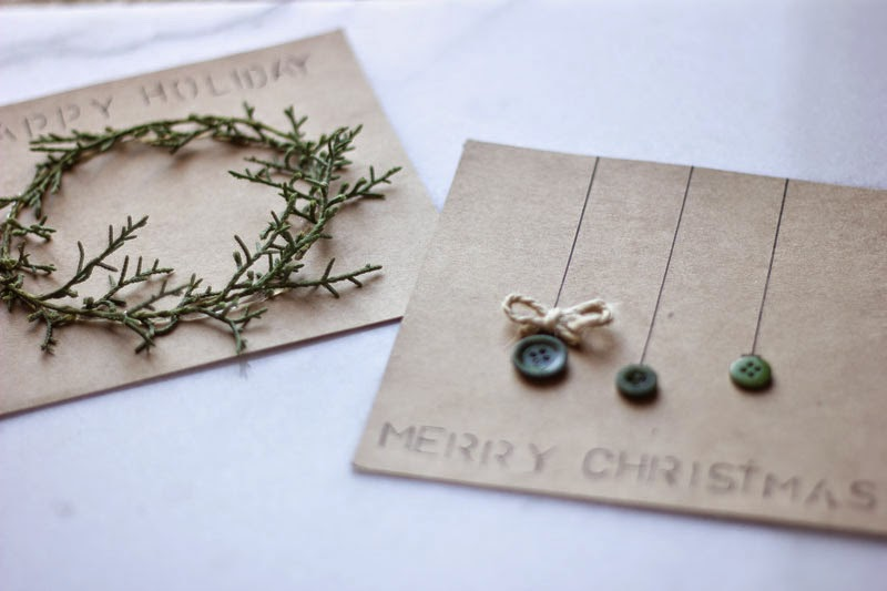 simple DIY Christmas cards, eco-friendly card ideas