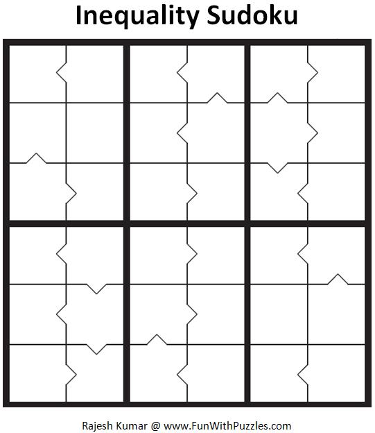 Inequality Sudoku (Mini Sudoku Series #50)