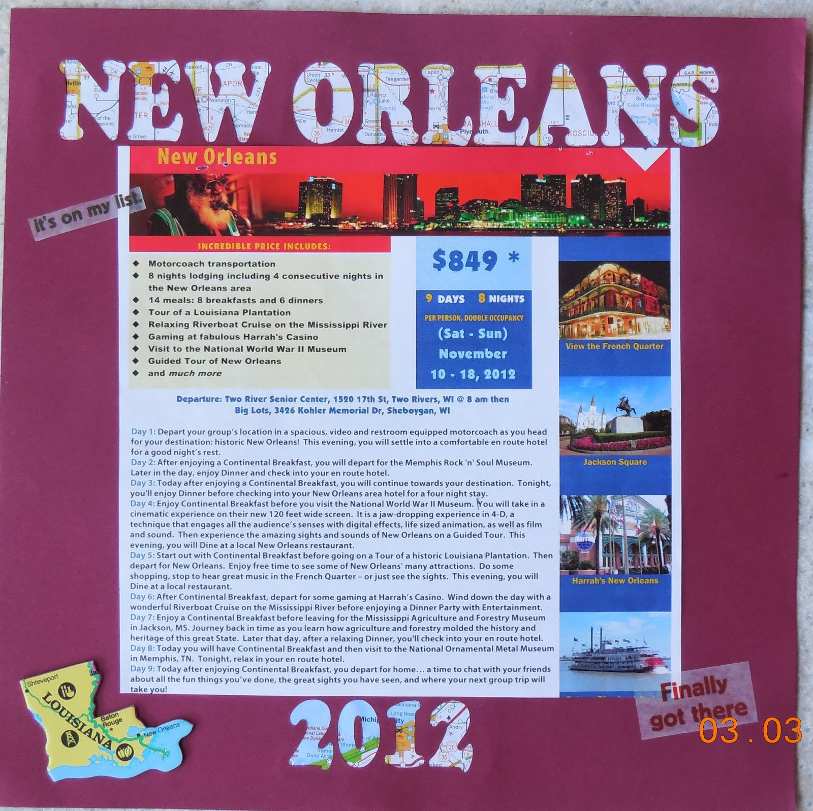 Scrapbook ideas new orleans - Scrapbook Ideas New Orleans The New Orleans And Year Were Cut With My Silhouette I M