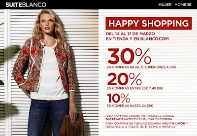 HAPPY SHOPPING EN SUITEBLANCO DEL 14 AL 17 DE MARZO 2013