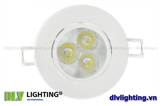 den led downlight am tran chieu roi 3w