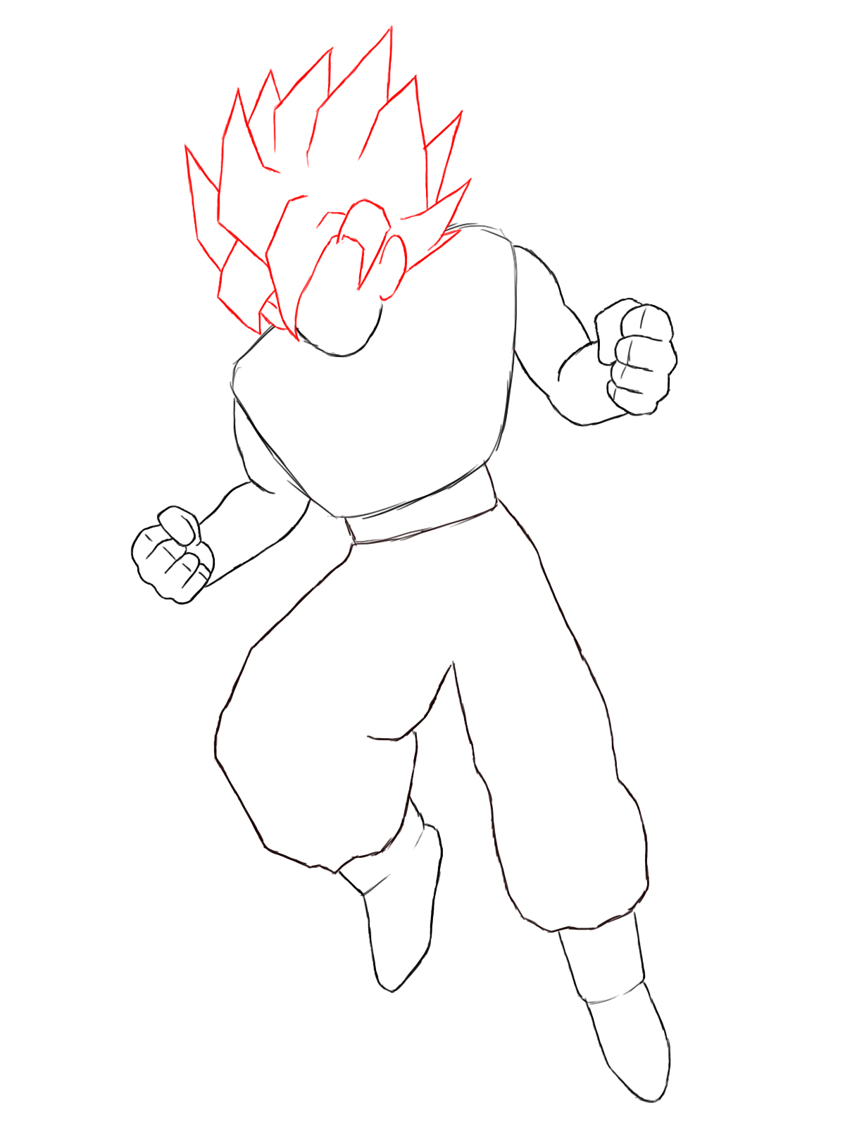 How To Draw Goku - Draw Central
