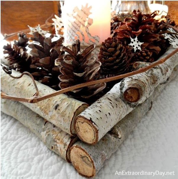 Birch Branch Winter Tablescape