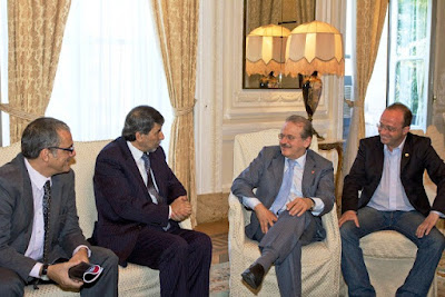 Tarso Genro em audiência com o Embaixador da Palestina no Brasil