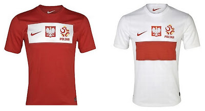 Poland Home+Away Euro 2012 Kits (Nike)