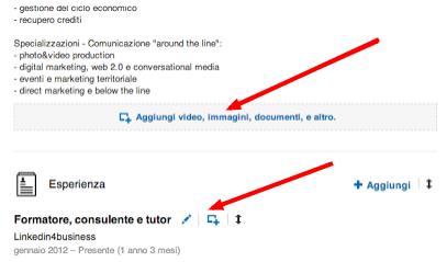 Ora tutti possono integrare foto, video e presentazioni nel profilo Linkedin