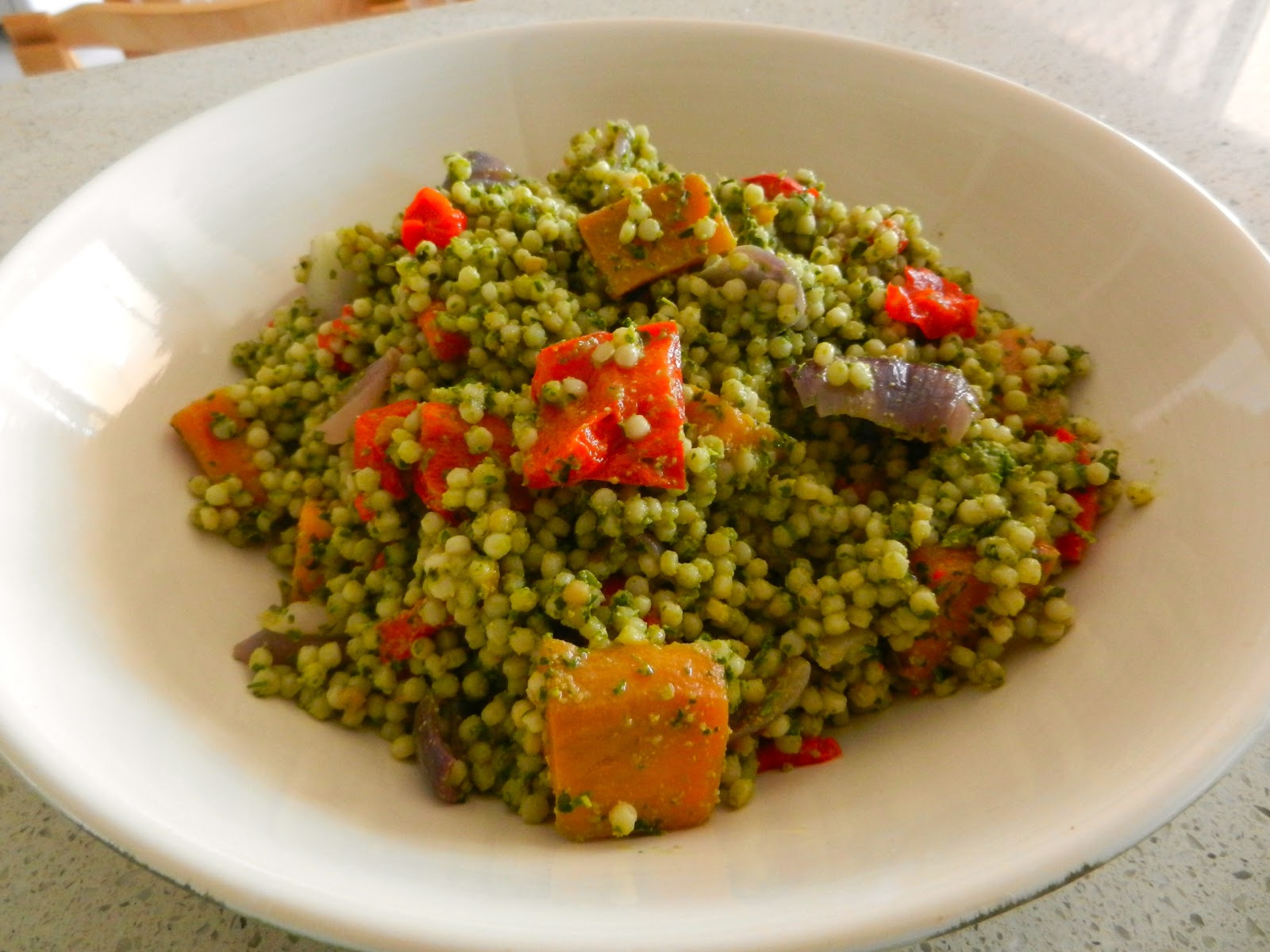 Israeli Couscous With Pesto And Spring Vegetables Recipes — Dishmaps