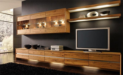 Modern Wooden Entertainment Center