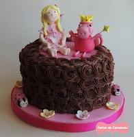 Tarta del hada buena y Peppa Pig hada