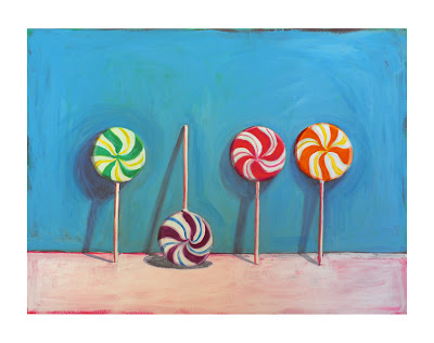 painting of lollipops by Jeanne vadeboncoeur
