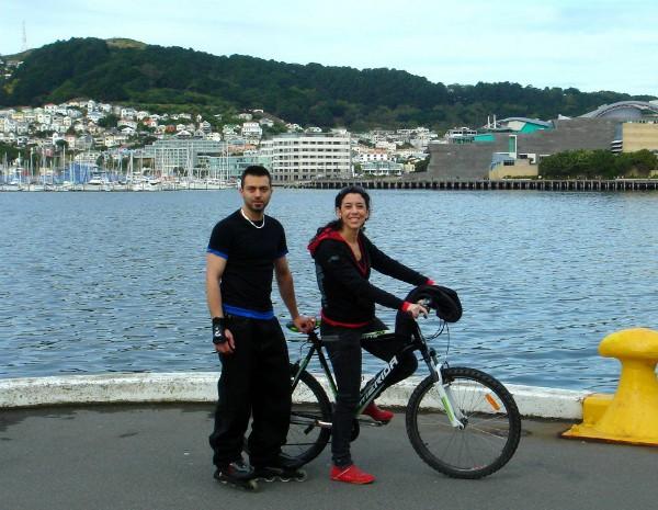 Muchas son las personas que hacen deporte en el paseo marítimo de Wellington