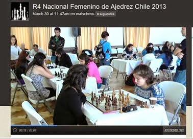 Transmitimos 30 Horas En VIVO!!  Nac.Fem. Ajedrez 2013, desde el Est. Español de Santiago, Chile.