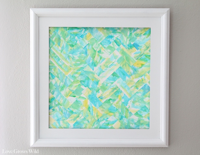 Modern Herringbone Watercolor Art