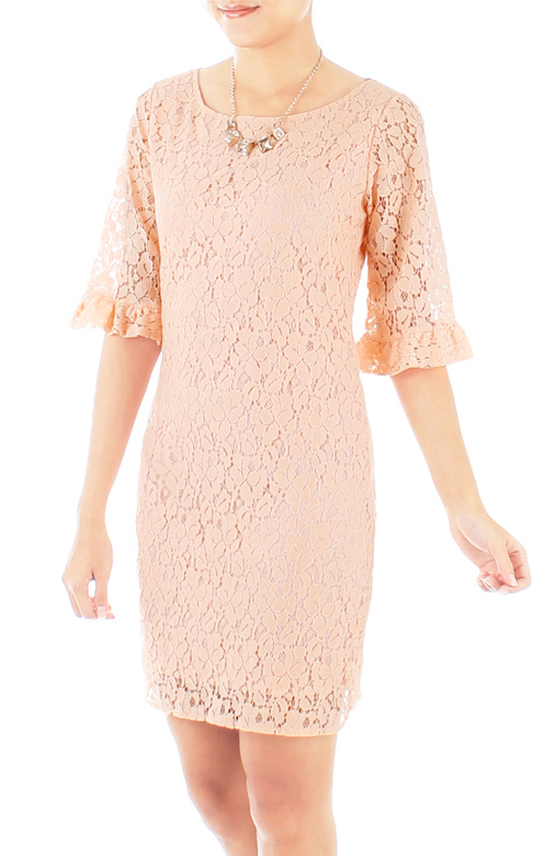 Juliet Lace Dress with Trumpet Sleeves