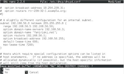 Konfigurasi DHCP Server Debian 8 (2)