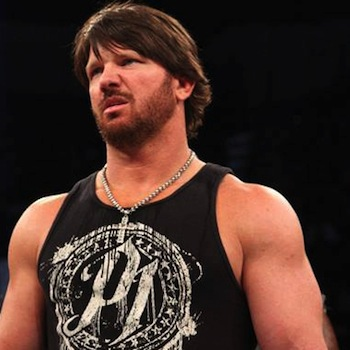 The 39-year old son of father (?) and mother(?), 180 cm tall A.J. Styles in 2017 photo