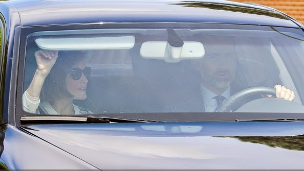 Spanish Royals Sighting In Madrid