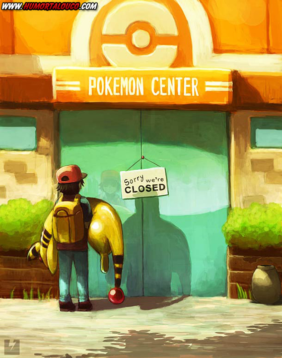 18 animações do mundo dos vídeos games e desenhos - Monstro Pikachu Pokemon - Pokemon Center