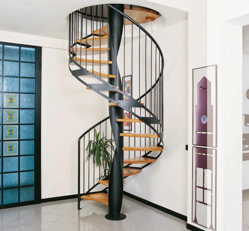 tangga rumah minimalis spiral keren