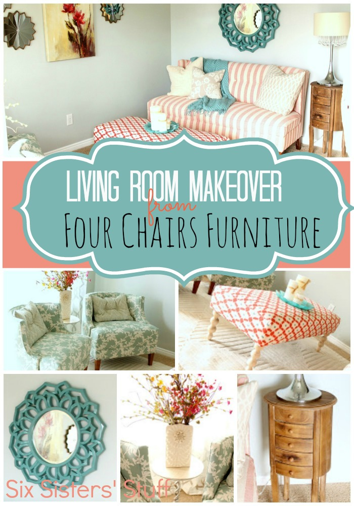 Living Room Makeover By Four Chairs Furniture Six Sisters 39 Stuff
