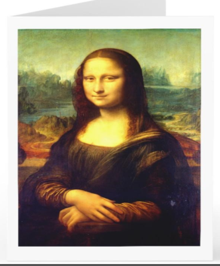 MONA LISA Greeting Cards