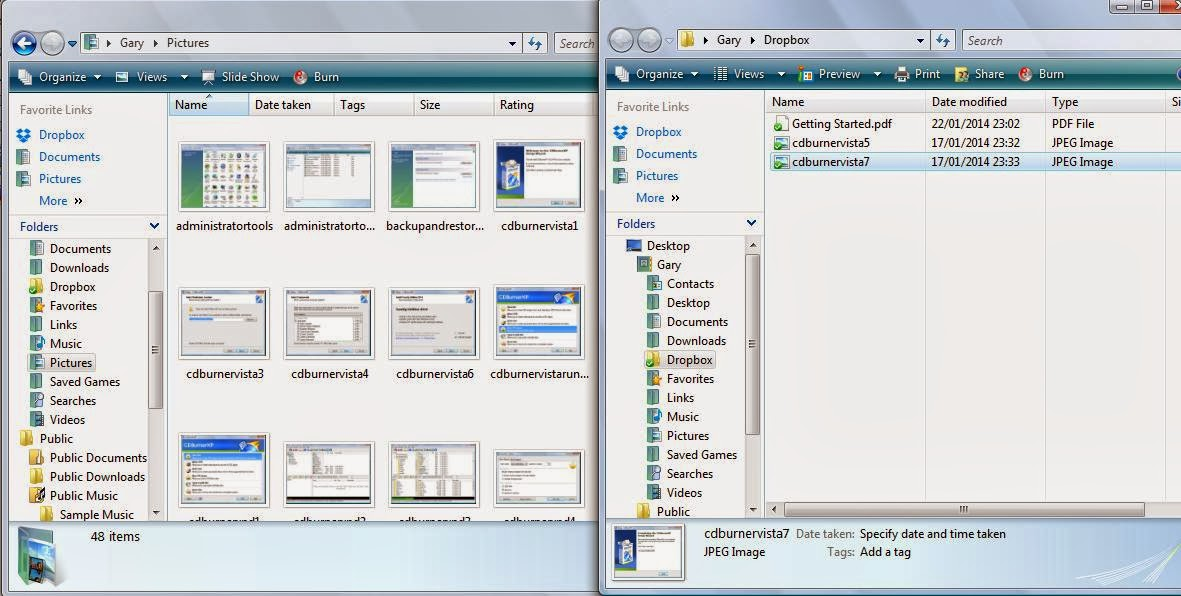 how to use dropbox on windows vista