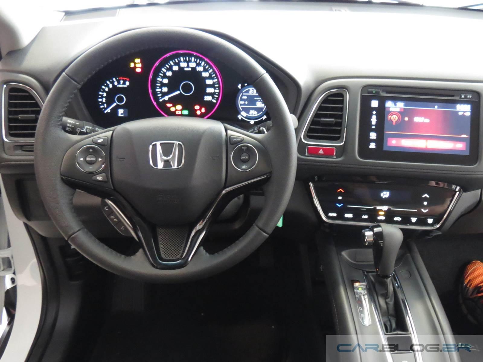 Novo honda hr v branco ex l topo de linha fotos e v deo for Honda hr v interieur