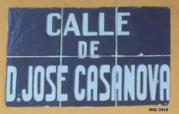 CARRER DEDICAT A JOSÉ CASANOVA DALFÓ