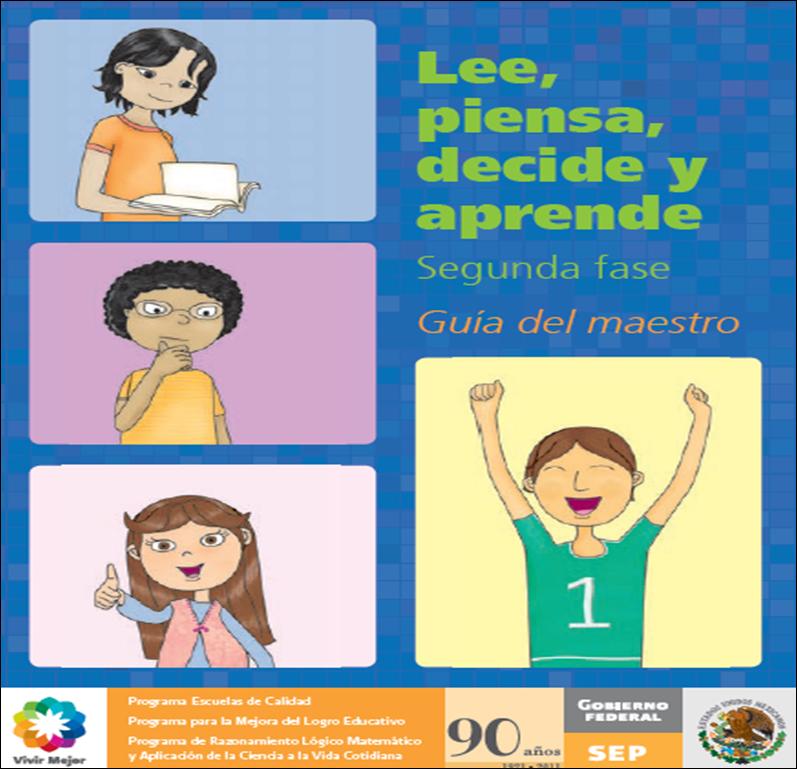 Fase 2 Matemáticas Maestro ~ Lee, piensa, decide y aprende