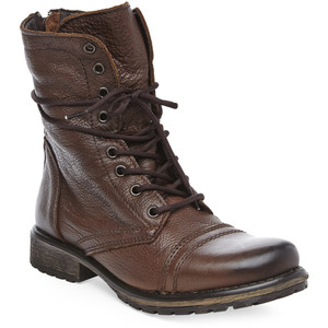 The brown fame combat boots from Steve Madden